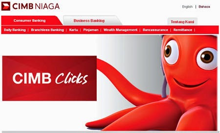 Cara Daftar Internet Banking CIMB Click Melalui Website