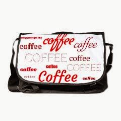 Magic Coffee Fonts Large Messenger Bag