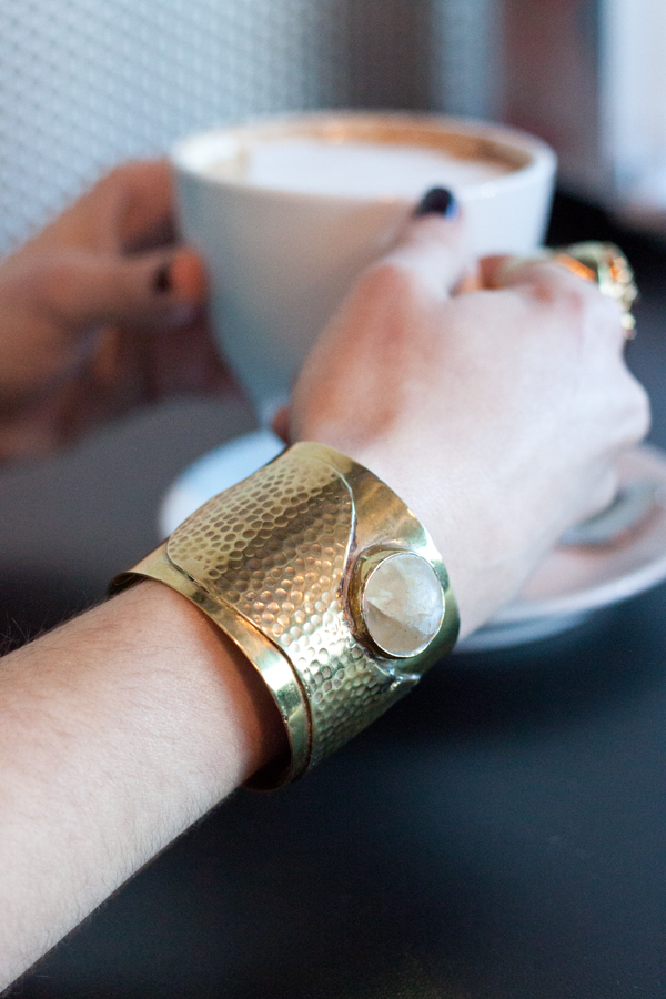 A fair trade, ethically-made hammered cuff bracelet from Unikati & Co