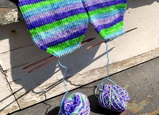 handknit socks, kitchener stitch