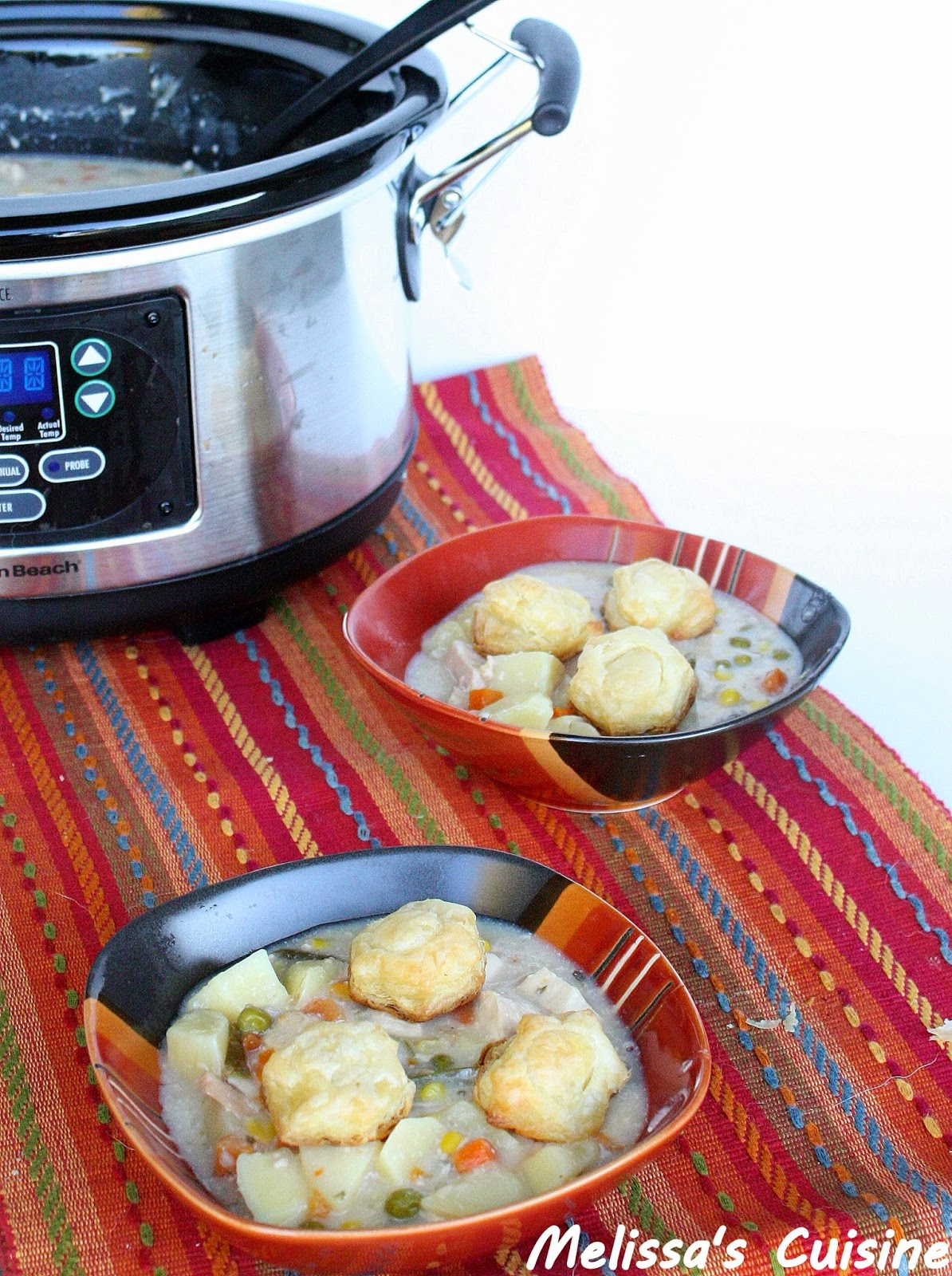 Melissa's Cuisine: Slow Cooker Chicken Pot Pie Soup