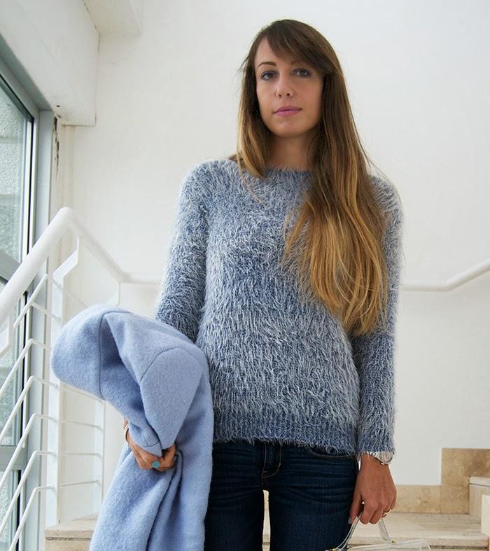 maglione ceruleo