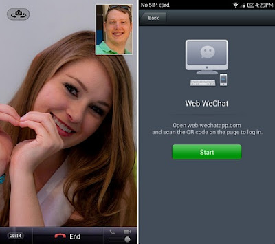 Como faço chamada de vídeo com WeChat?