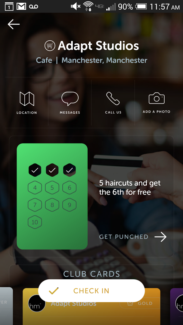 Customer Loyalty Mobile App with push notifications and geo targeting