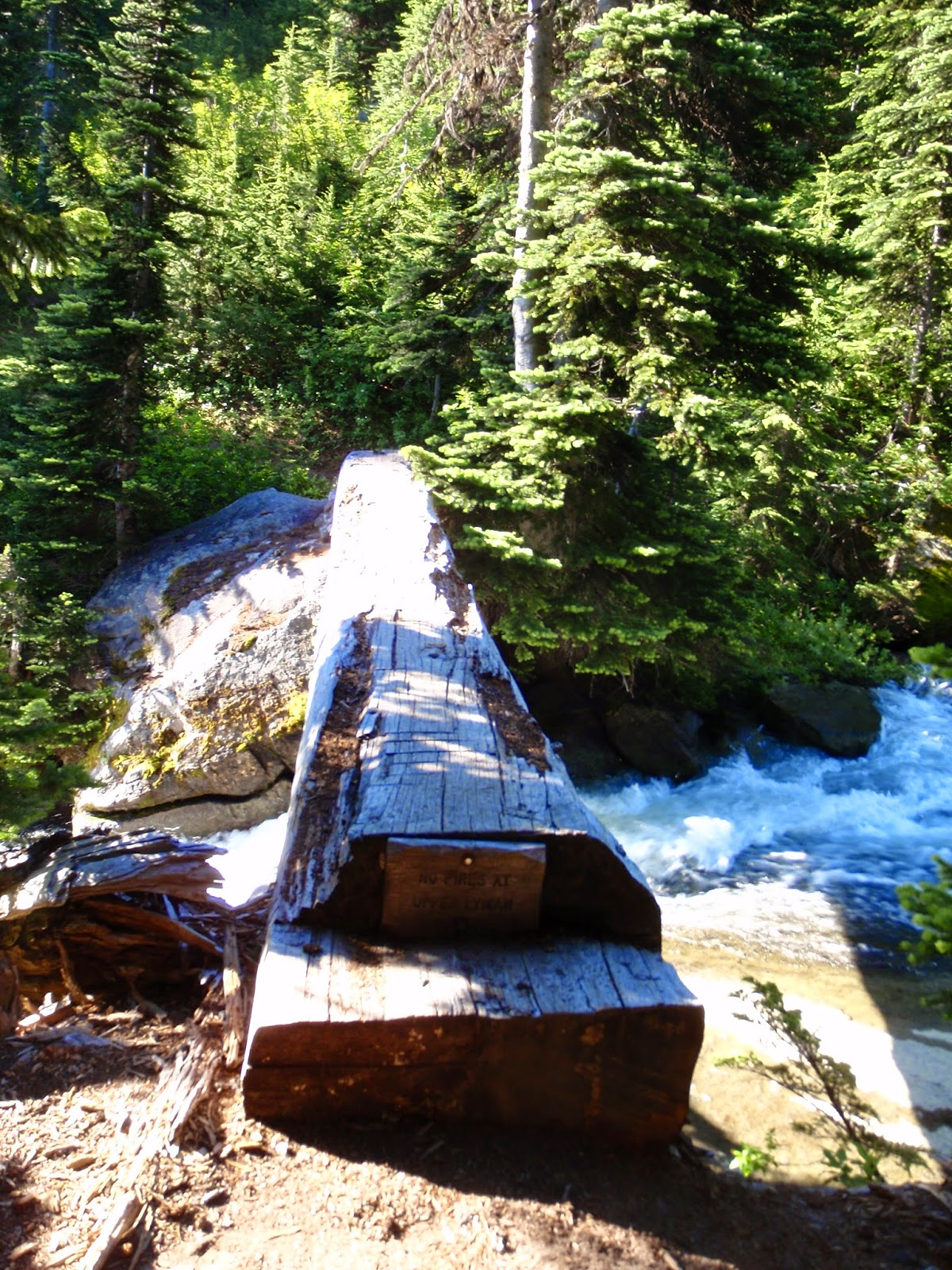 Lyman Falls crossing @ Glacier Peak Wilderness