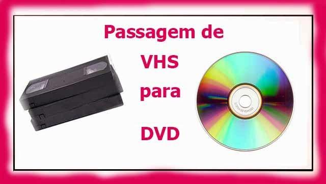 passar cassetes de vhs para dvd