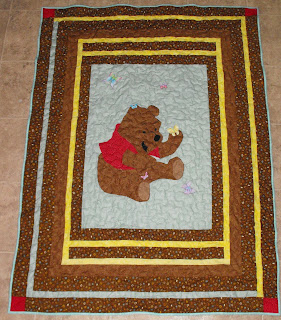 Pooh crib quilt