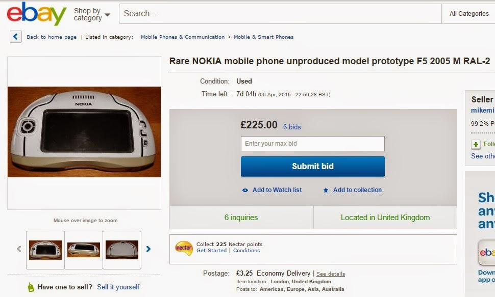http://www.ebay.co.uk/itm/Rare-NOKIA-mobile-phone-unproduced-model-prototype-F5-2005-M-RAL-2-/251895364881