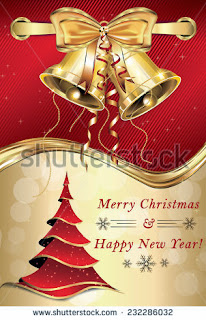 Printable Merry Christmas and a Happy New Year - greeting card for companies