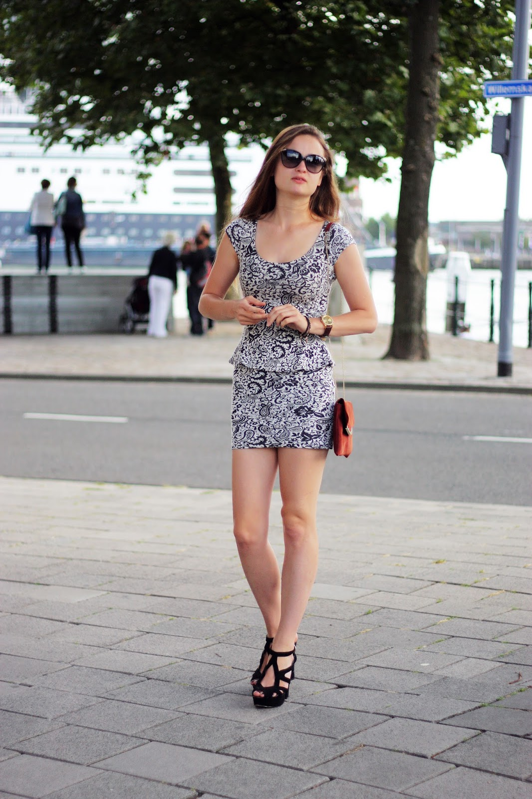 mini peplum dress