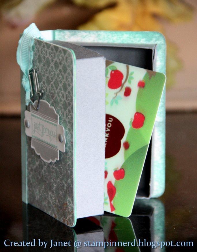 Stampin Nerd Book Lovers Gift Box Tutorial