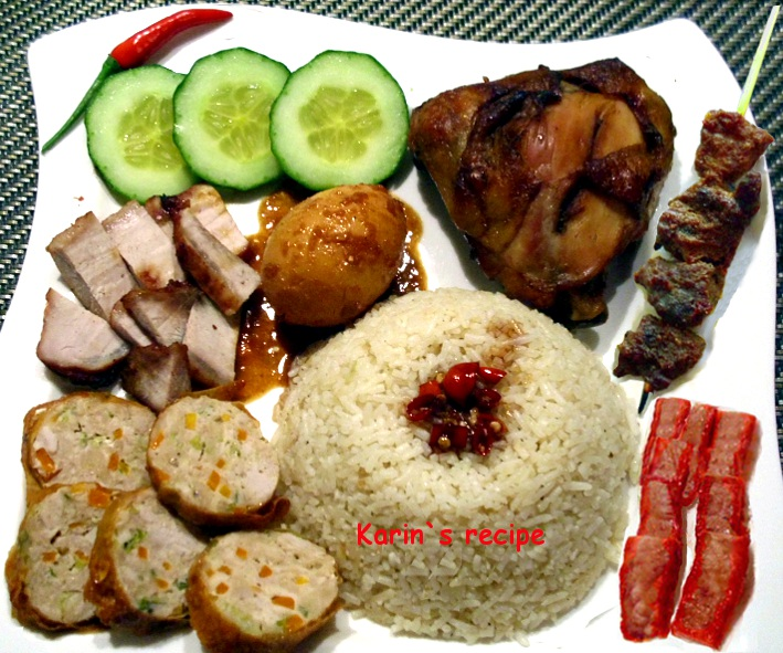Nasi Campur A La Cina Indonesian Chinese Style Of Mixed Rice