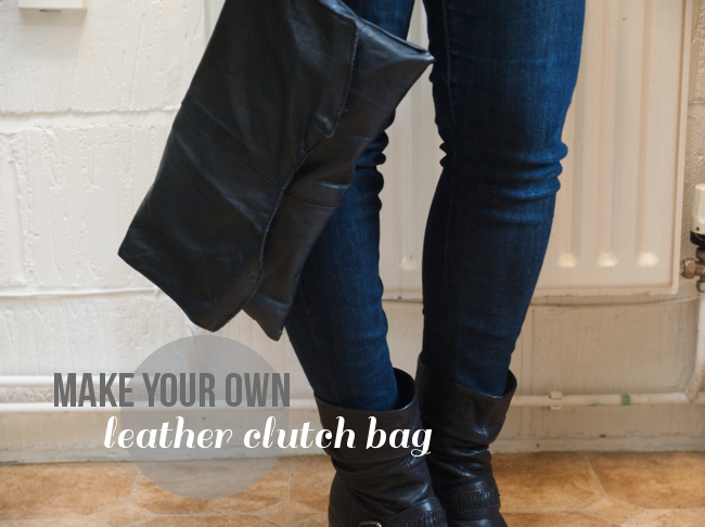Randomly Happy | make your own clutch bag from vintage leather
