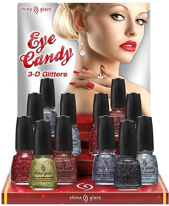 China Glaze Holiday 2011 Eye Candy 3-D Glitters and more ...