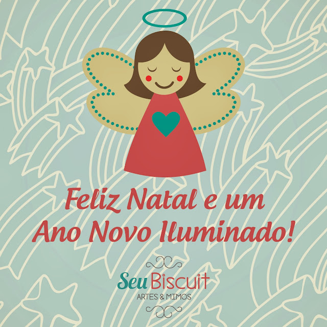 Carao de Natal e Ano Novo, 2014, agracecimento, fofo. biscuit, Seu Biscuit