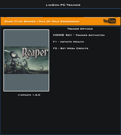 Reaper Tale Of Pale SwordsMan v1.1 and 1.2 Steam Trainer +2 [LinGon]