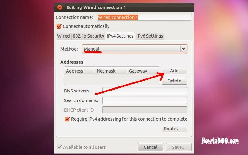 how to set static ip in ubuntu 11.10