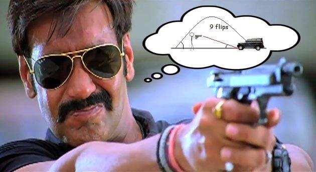 singham gun physics scorpio