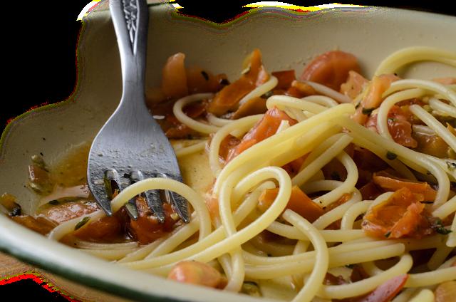 Espaguetis en ensalada; salad spaghetti