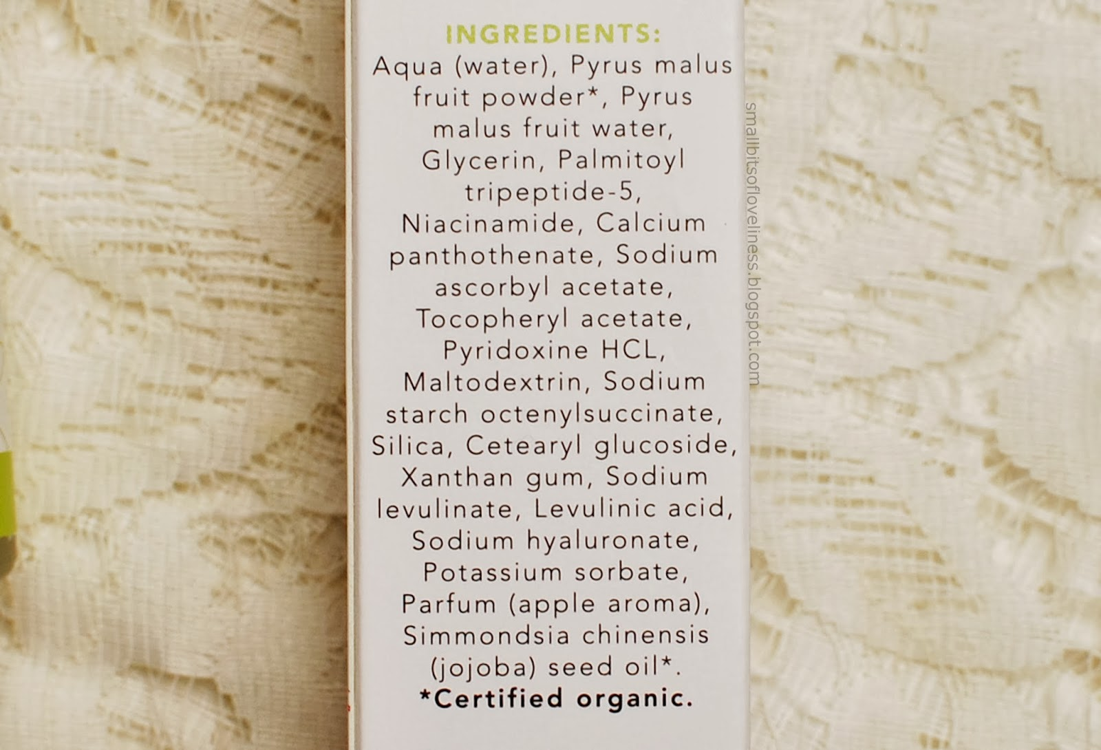 Nourish Balance Nutritious Peptide Serum ingredients