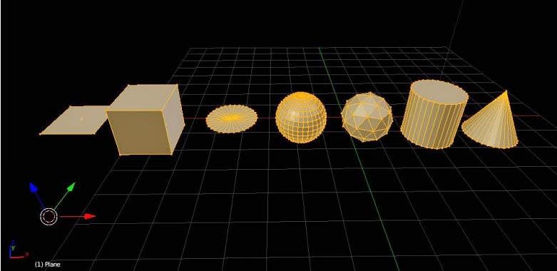 Contoh geometri dasar blender