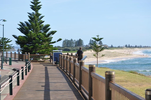 The Entrance, NSW, boardwalk from surf club to town.