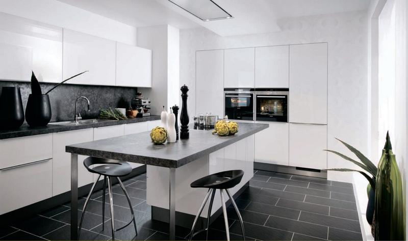 13 cuisines loft le blog de loftboutik - Cuisine noir et blanc ...