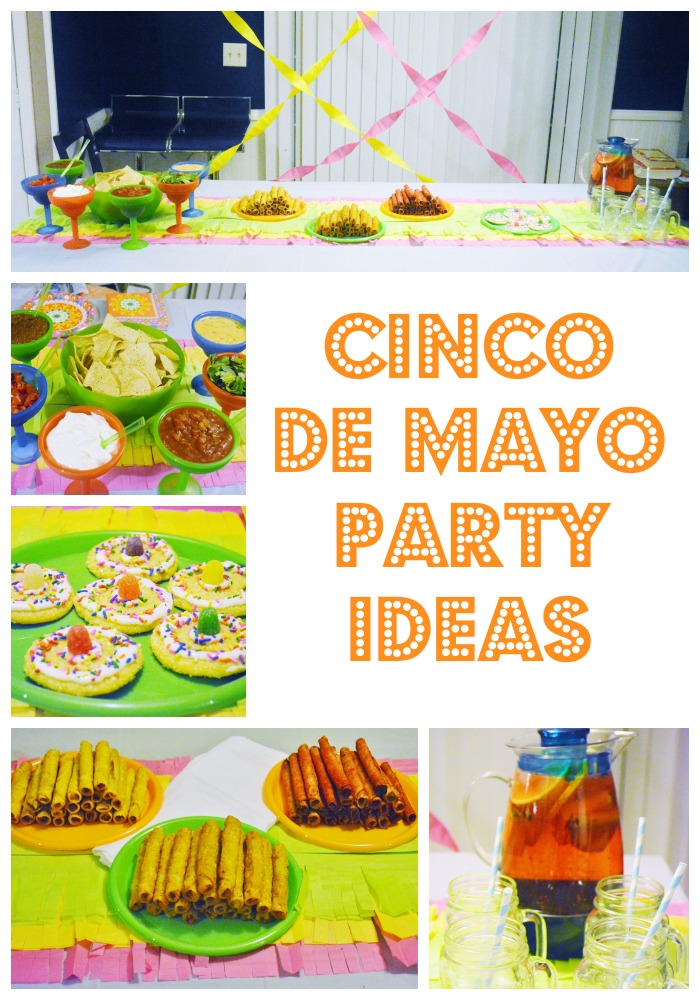 Food, decor and drink ideas for a family friendly Cinco de Mayo party! #cincodemayo #partyfood