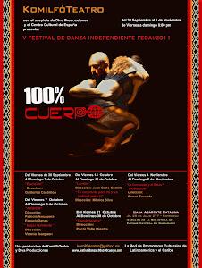 Cartel del Festival 100% Cuerpo