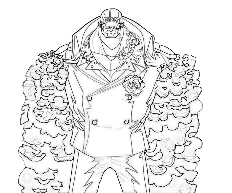 one-piece-akainu-power-coloring-pages