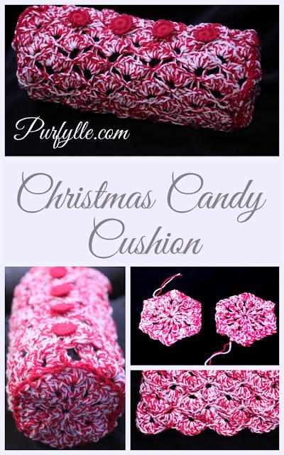 Crochet Christmas Candy Cushion