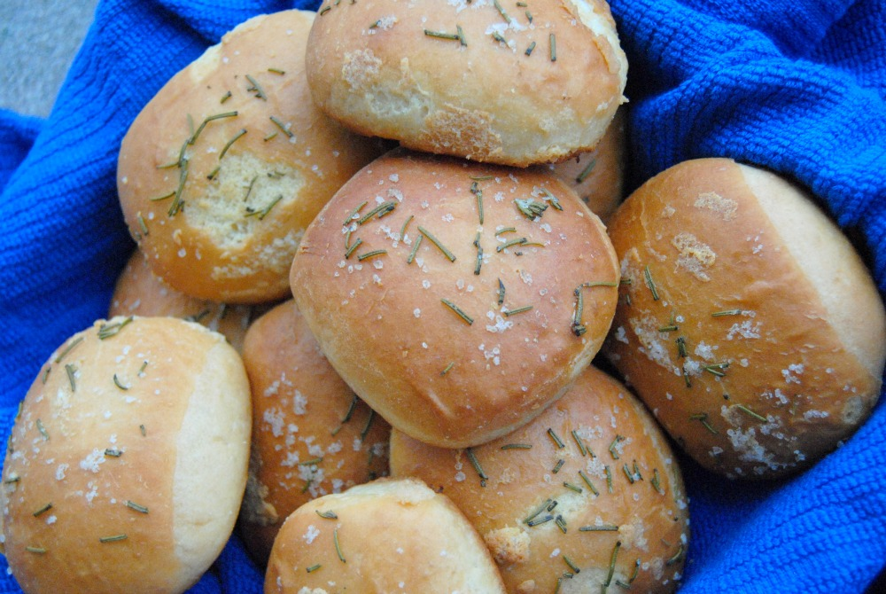 Buttered Rosemary Rolls - life doesn't get much better than these!