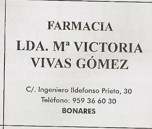 FARMACIA Mª VITORIA VIVAS GOMEZ