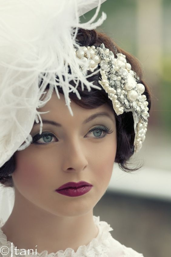 Classic Wedding Hair And Makeup : Adorable Vintage Wedding Makeup Gallery!