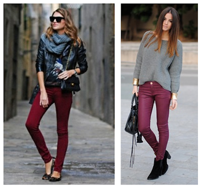 Maroon Skinny Pants Photo Album - The Fashions Of Paradise