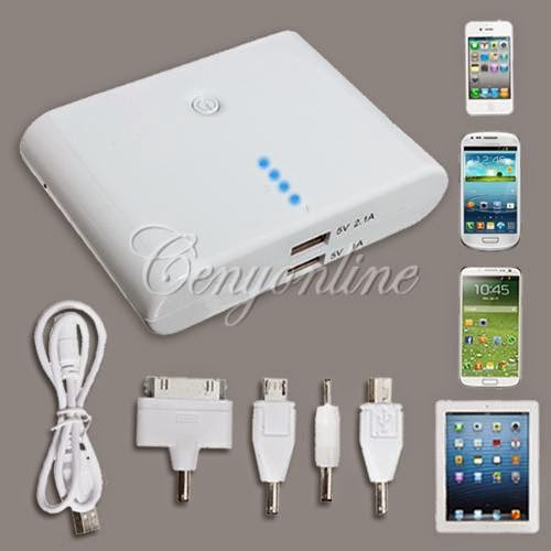 12000mAh External Backup Battery Charger Power Bank for Galaxy S3 S4 note 2 3 LG