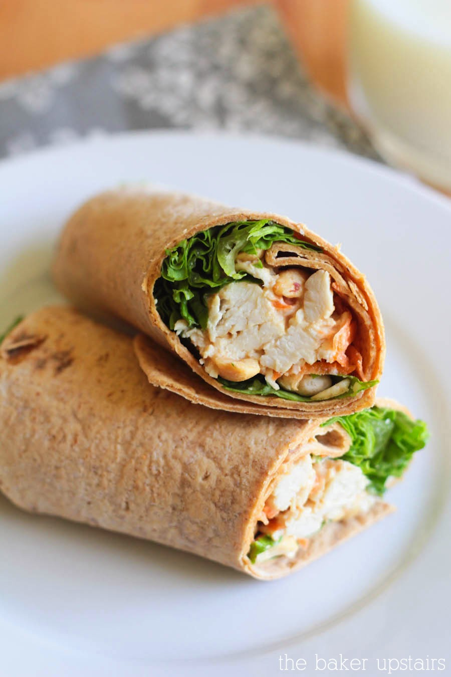the baker upstairs: thai chicken wraps