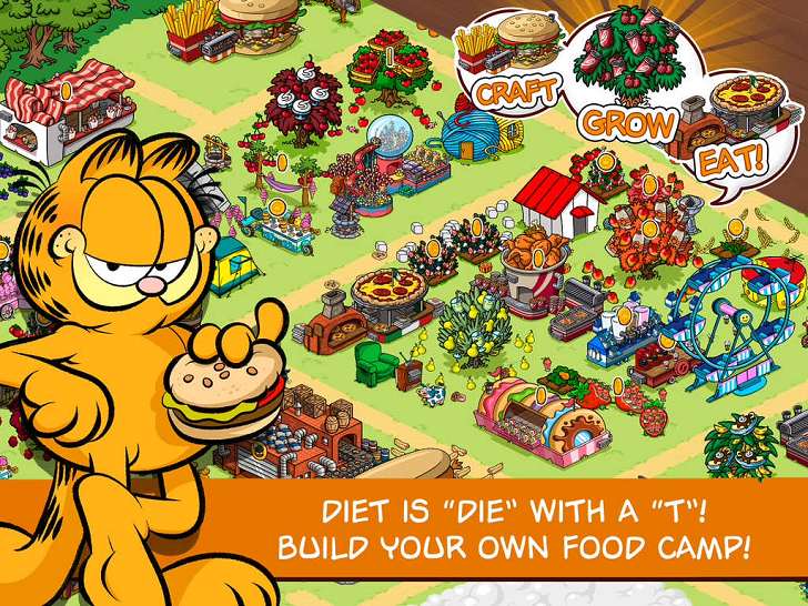 Garfield: Survival Of The Fattest Free App Game By PIXOWL INC.