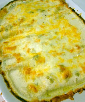 White Chicken Enchiladas and Sour Cream Sauce Recipe | Six Sisters ...