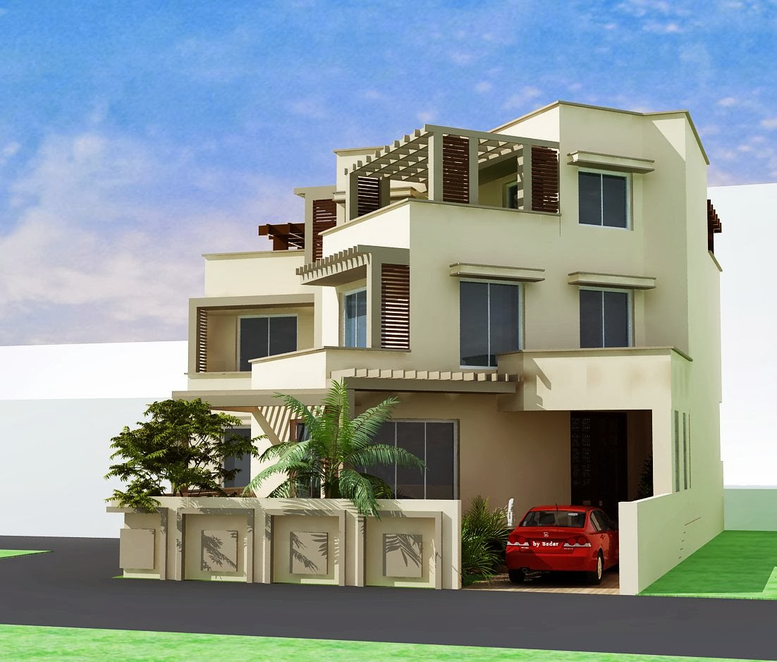 Contemporary homes designs exterior views for 2 story house exterior design