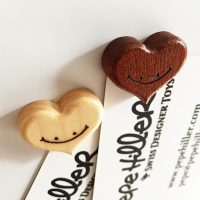 Woodhearts Wooden Magnets by Pepe Hiller