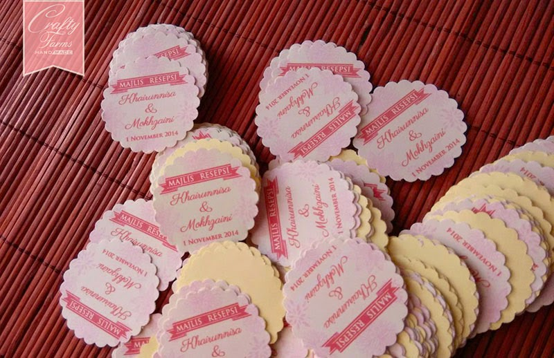 Personalized Malay Wedding Sticker Printing for Wedding Favour