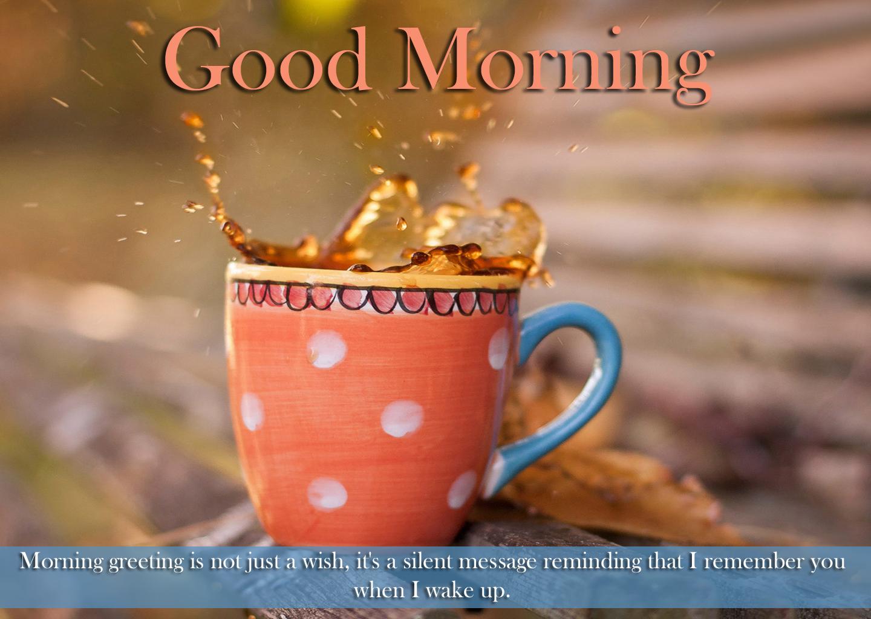 Good Morning with Tea HD Wallpaper