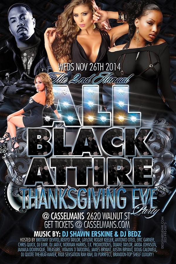 All Black Attire Thanksgiving Eve Party at Casselman's Denver Colorado
