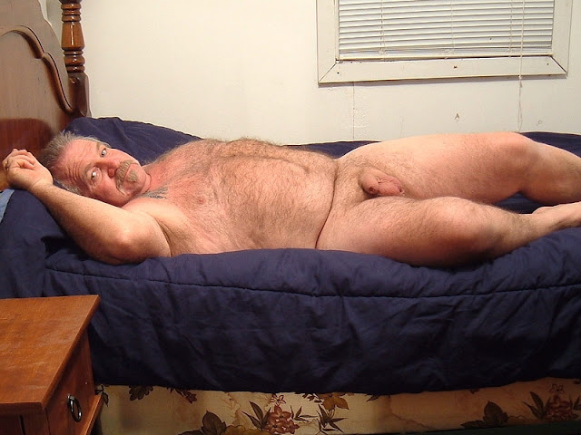 bedtimewonders Hairy Chubby Daddy in the Bed with an Uncut Cock