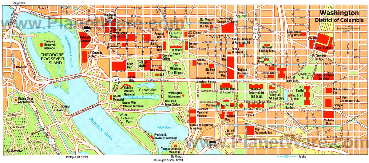 Tourist Maps Of Washington Dc