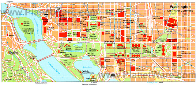Sweet image inside map of washington dc attractions printable