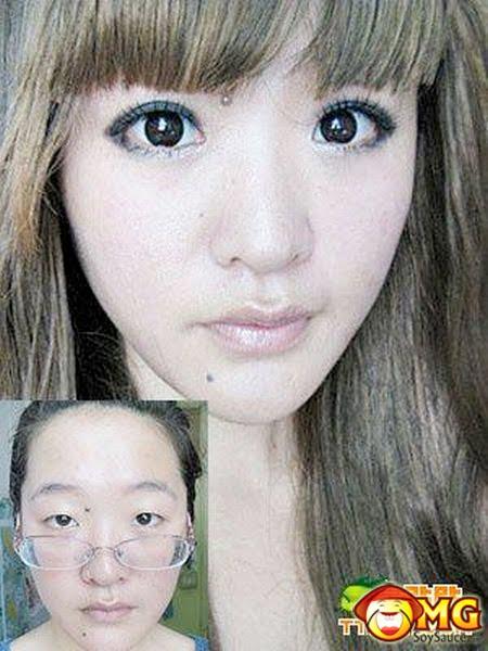 asian without makeup. Without Makeup, With Makeup