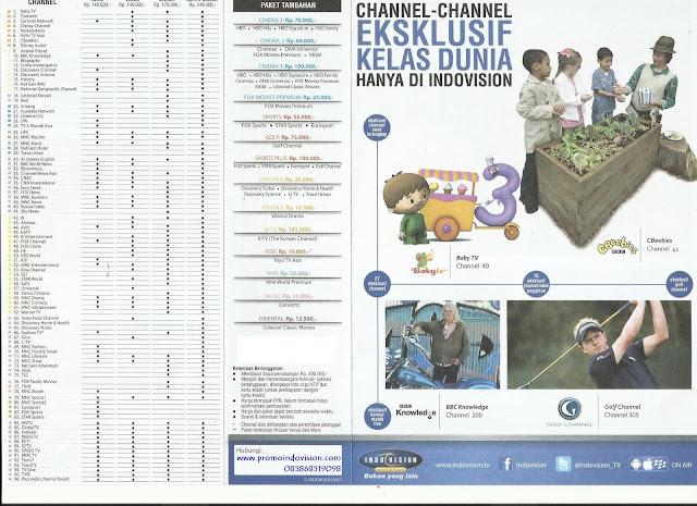 Daftar harga paket tv kabel Indovision
