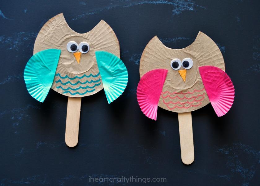 Heart Owl Craft Template